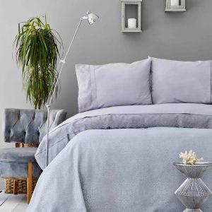 купить Покрывало пике с наволочками Karaca Home Private-Cynthia gri Серый фото
