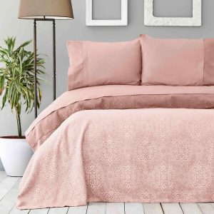 купить Покрывало пике с наволочками Karaca Home Private-Cynthia pudra Розовый фото