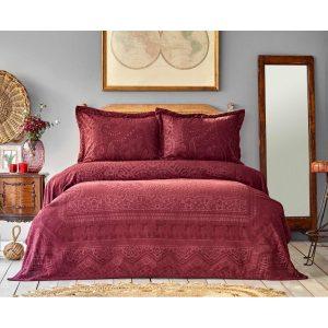 купить Покрывало с наволочками Karaca Home-Bohem sarabi пано Бордовый фото