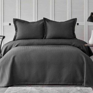 купить Покрывало с наволочками Karaca Home-Charm bold antrasit Черный Серый фото