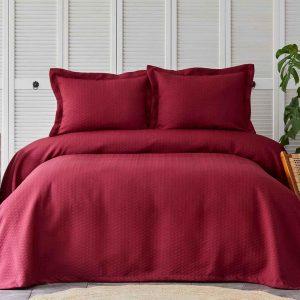 купить Покрывало с наволочками Karaca Home-Charm bold bordo Бордовый фото