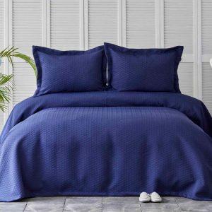 купить Покрывало с наволочками Karaca Home-Charm bold lacivert Фиолетовый фото