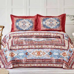 купить Покрывало с наволочками Karaca Home-Rubi kiremit Красный фото