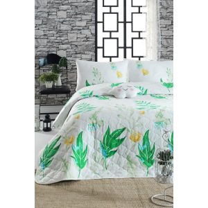 купить Покрывало стеганое с наволочкой Enlora Home-Arta yesil Зеленый фото