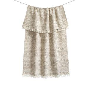 купить Пляжное полотенце Barine Pestemal-Nordic beige 90x160 Бежевый фото