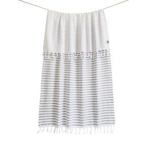 купить Пляжное полотенце Barine Pestemal-Reef 90x165 Grey Серый фото