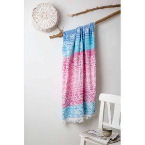 купить Пляжное полотенце Irya Pestemal-Erma 90x175 Розовый|Синий фото