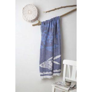 купить Пляжное полотенце Irya Pestemal-Fitz 90x175 Синий фото