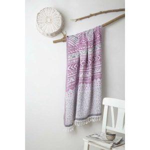 купить Пляжное полотенце Irya Pestemal-Malvina 90x175 Серый|Лиловый фото