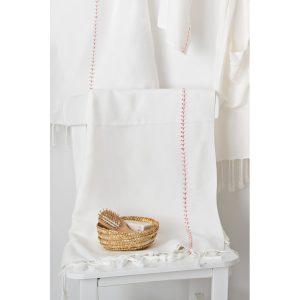 купить Пляжное полотенце Irya Pestemal-New Meltem mercan 90x170 Белый фото