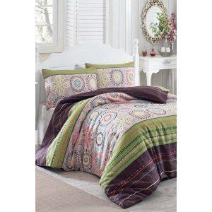 купить Постельное белье Eponj Home-Aries yesil Зеленый|Фиолетовый фото