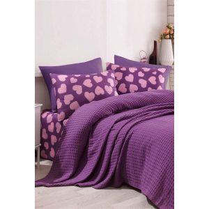 купить Постельное белье Eponj Home Pike-Paricalpli murdum Фиолетовый фото