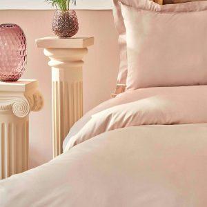 купить Постельное белье Karaca Home-Back To Basic pudra Розовый|Бежевый фото