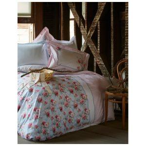 купить Постельное белье Karaca Home-Haley blue Голубой|Розовый фото