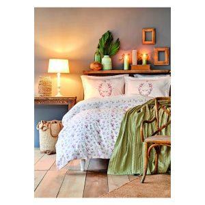 купить Постельное белье Karaca Home-Sonya yesil bag Зеленый|Розовый фото