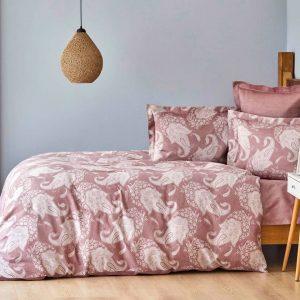 купить Постельное белье Karaca Home сатин-Sadomia bordo Розовый фото