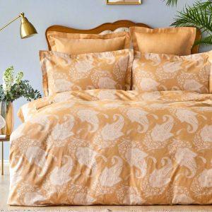 купить Постельное белье Karaca Home сатин-Sadomia hardal Коричневый фото
