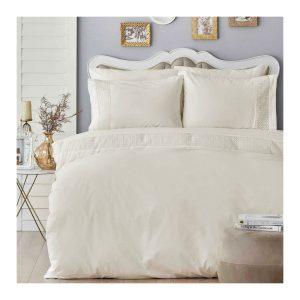 купить Постельное белье Karaca Home-Verona beyaz Кремовый фото