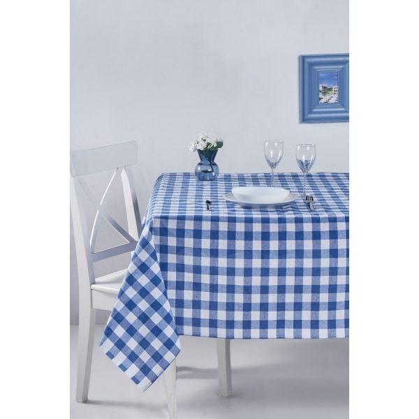 купить Скатерть Eponj Home-Kareli mavi Голубой фото