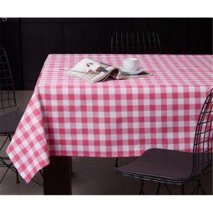 купить Скатерть Eponj Home-Kareli pembe Розовый фото