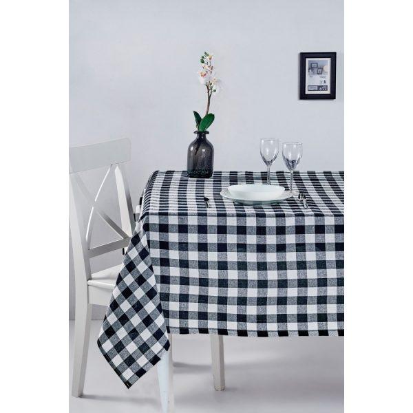 купить Скатерть Eponj Home-Kareli siyah Черный фото