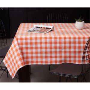 купить Скатерть Eponj Home-Kareli turuncu Оранжевый фото