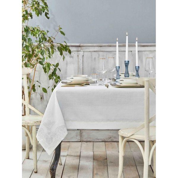 купить Скатерть Karaca Home-Ades beyaz Французское кружево Белый фото