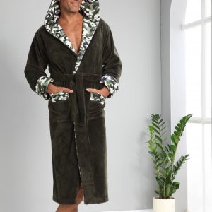 купить Мужской халат Nusa ns 1165 хаки Зеленый фото