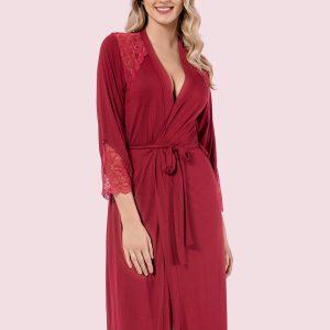 купить Женский халат Mariposa 8607 bordo Бордовый|Красный фото