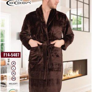 купить Мужской халат Cocoon 14-5407 brown Коричневый фото