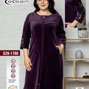 купить Женский халат Cocoon 20-1706 purple Фиолетовый фото