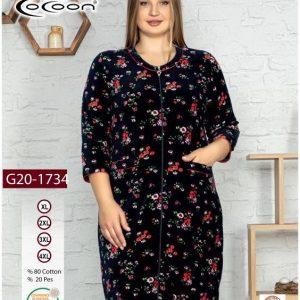 купить Женский халат Cocoon 20-1734 bordeaux Черный фото