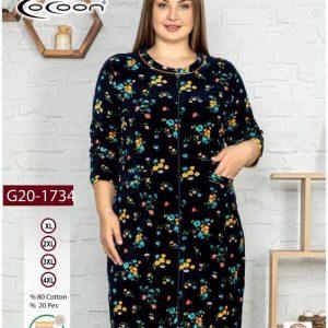 купить Женский халат Cocoon 20-1734 yellow Черный фото