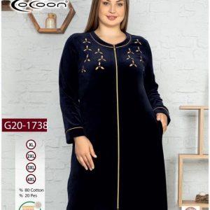 купить Женский халат Cocoon 20-1738 dark navi Синий фото
