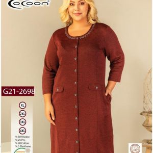 купить Женский халат Cocoon 21-2698 Коричневый фото