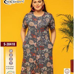 купить Женский халат Cocoon 30410 Серый фото