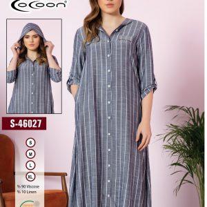 купить Женский халат Cocoon 46027 Серый фото