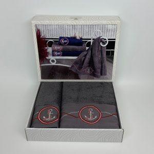 купить Набор полотенец DIAMOND CORNET ANTRACIT Серый фото