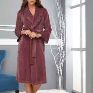 купить Женский халат Nusa ns 0359 murdum Лиловый фото