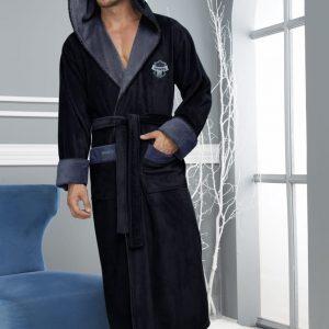 купить Мужской халат Nusa ns 1145 синий Синий фото