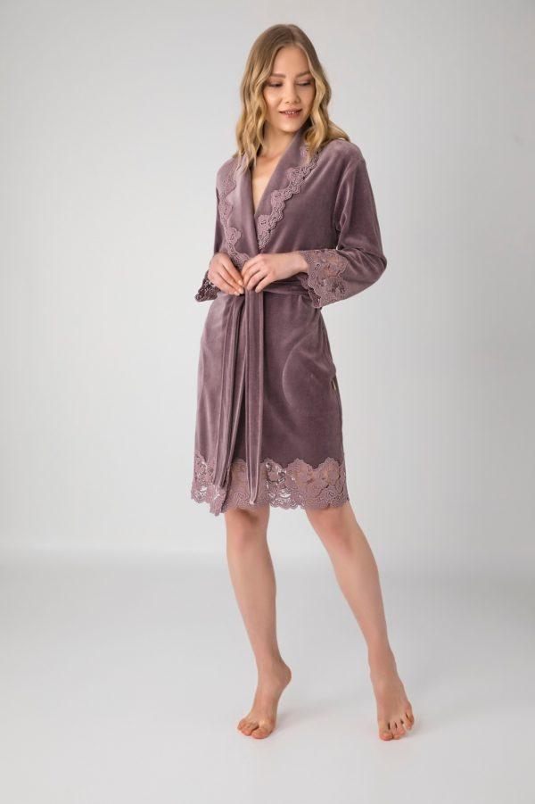 купить Женский халат Nusa ns 0431 k. gulkurusu Лиловый фото