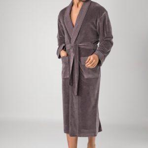 купить Мужской халат Nusa ns 20665 fume Серый фото