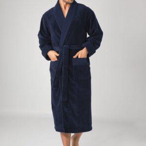 купить Мужской халат Nusa ns 20665 lacivert Синий фото