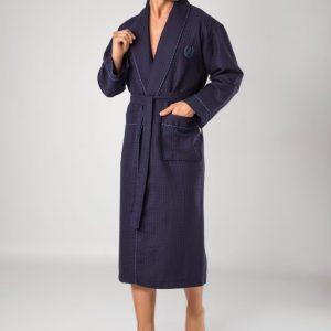 купить Мужской халат Nusa ns 12680 lacivert Синий фото