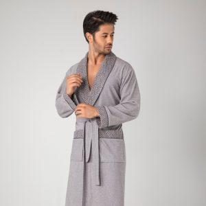 купить Мужской халат Nusa ns 20695 gri Серый фото