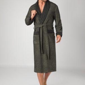 купить Мужской халат Nusa ns 20695 haki Зеленый фото