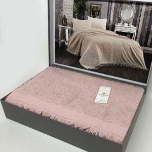 купить Покрывало-простынь махровое DIAMOND MALVINA PUDRA Розовый фото