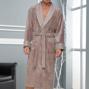 купить Мужской халат Nusa ns 15155 tas Бежевый фото
