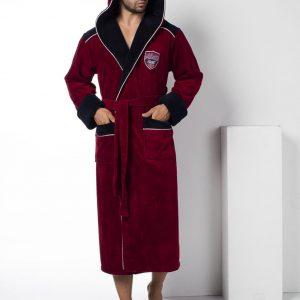 купить Мужской халат Nusa ns 2810 Бордовый фото