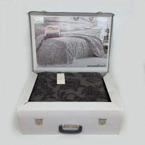 купить Покрывало-простынь махровое Maison Dor SANDA ANTRACIT Серый|Черный фото
